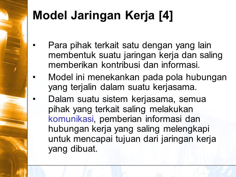 Model Jaringan Kerja [4]